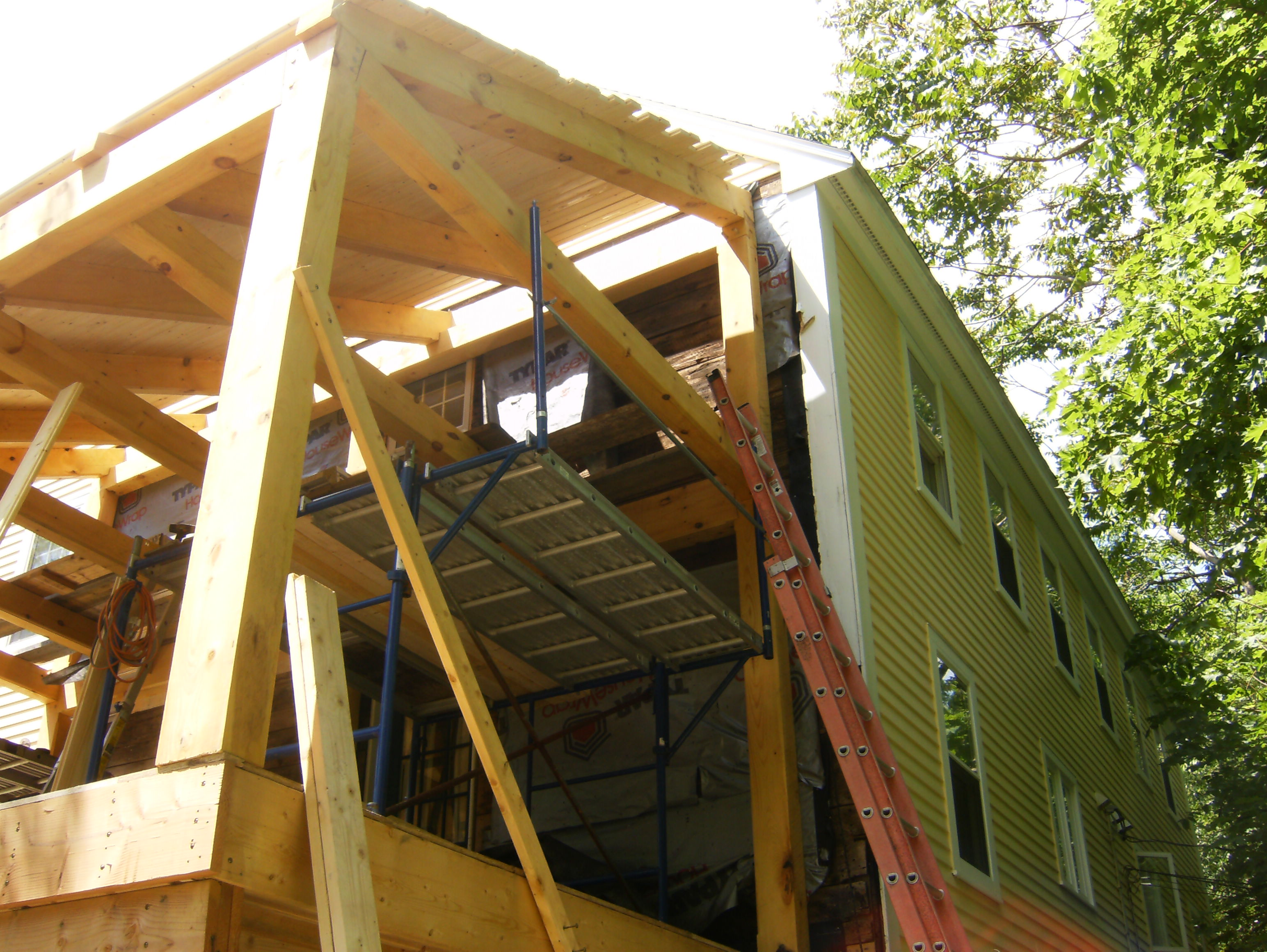 Post and beam addition